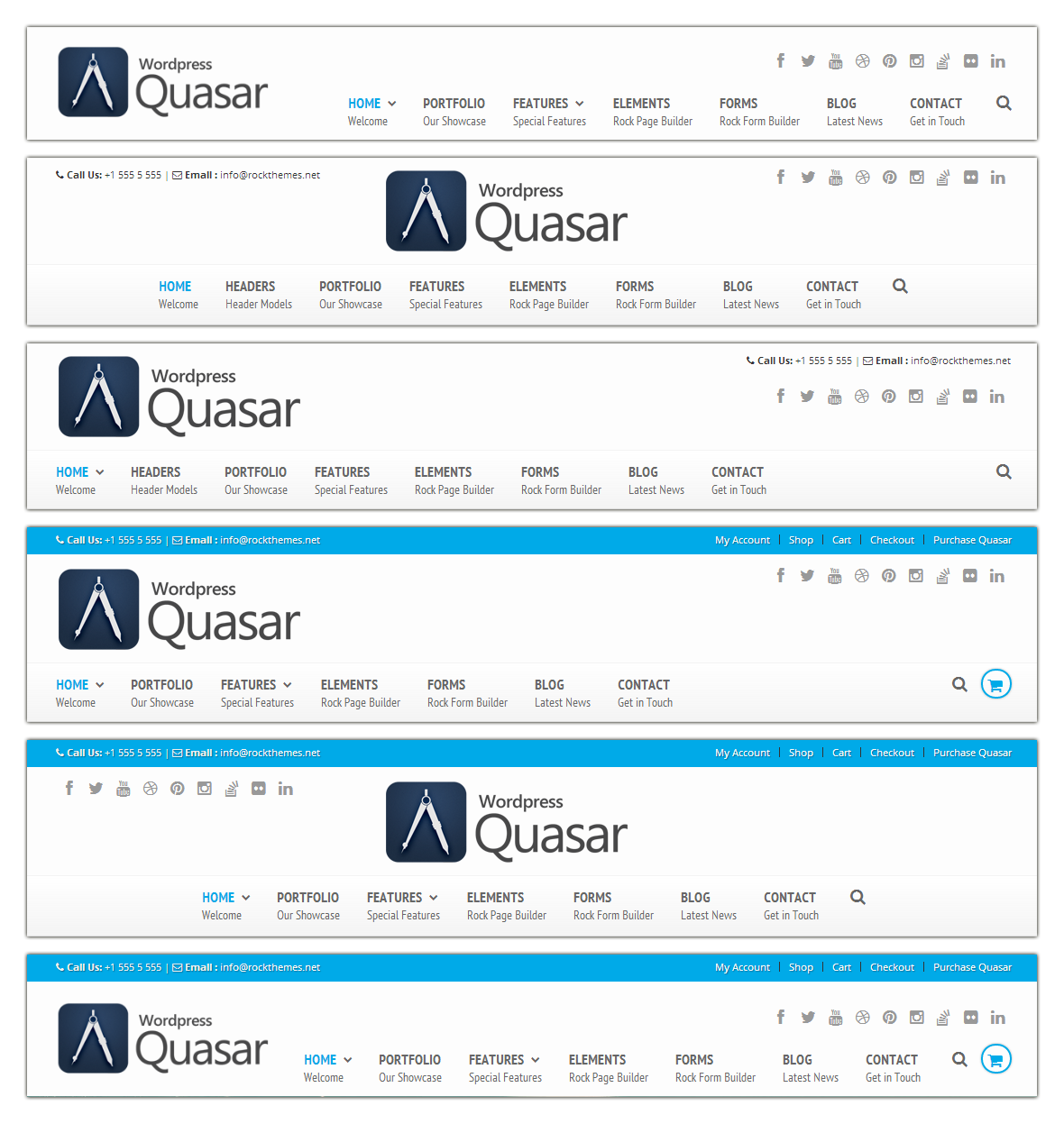 Quasar Header Models